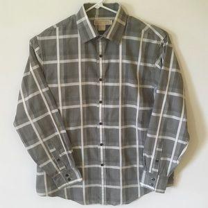 Michael Kors XL Grey & Light Black Button Down